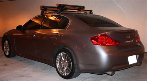 Infiniti G35 Roof Rack by Yakima Ski Snowboard Roof Rack Locked And Loaded Bring On The Snow G35driver Infiniti
