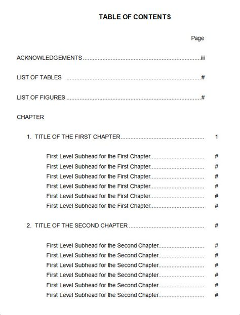 free online table of contents maker design a custom table of