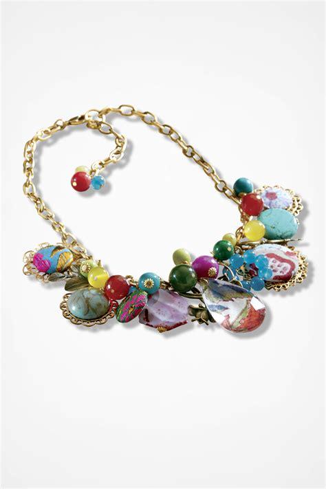 Springtime Pendant Charm P 950 scrapbook necklace by lenora dame coldwater creek
