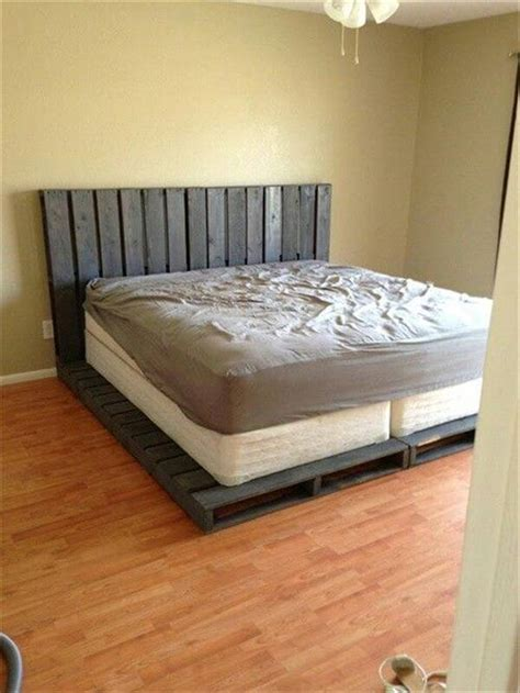 homemade bed frame ideas diy 20 pallet bed frame ideas 99 pallets