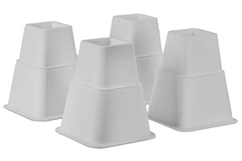 white bed risers home it white adjustable bed risers or furniture riser bed