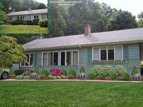house landscape front yard landscape design madecorative landscapes inc