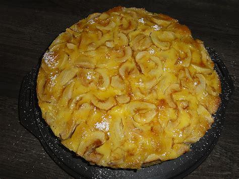 schmand apfel kuchen apfelkuchen mit vanille schmand rezept mit bild