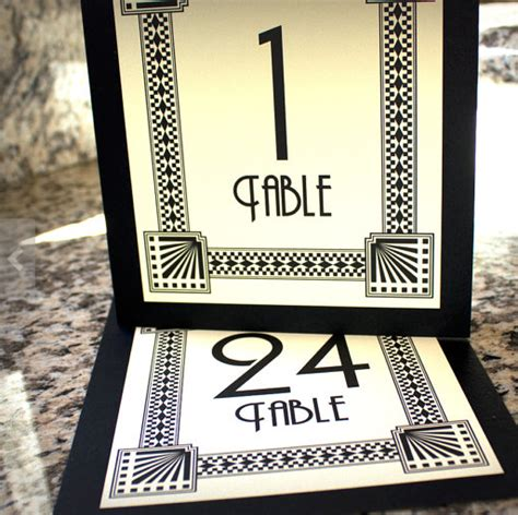 deco table numbers deco font table numbers aldan and wedding