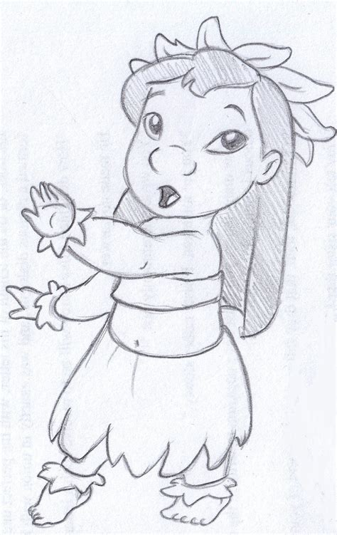 Easy Sketches Of by Disney Sketch Lilo Hula By Helena