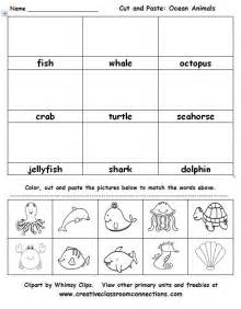 ocean animals cut and paste activity is great for