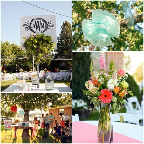 Bright and Colorful Backyard Wedding   Rustic Wedding Chic