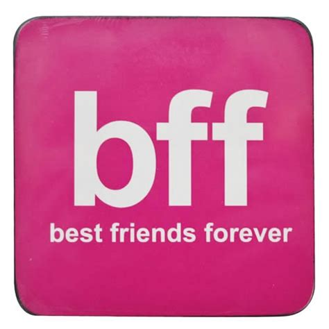8 Best Bffs by Pink Bff Best Friends Forever Coaster