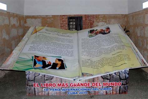 libro el pedo mas grande el libro m 225 s grande y el m 225 s peque 241 o del mundo en feria de la habana cubadebate