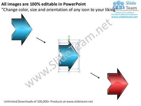4 stages linear flow arrow decision making process diagram