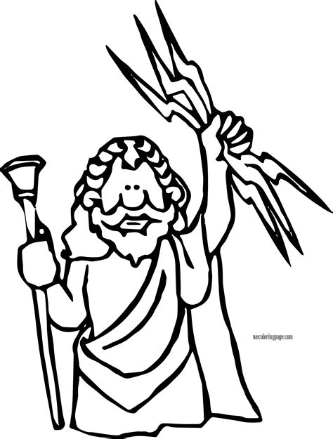 coloring page of zeus jupiter zeus coloring page wecoloringpage