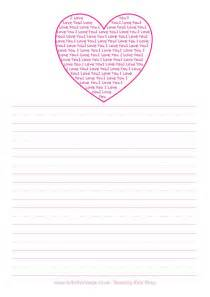 Heart Writing Paper Search Results For Heart Writing Template Calendar 2015