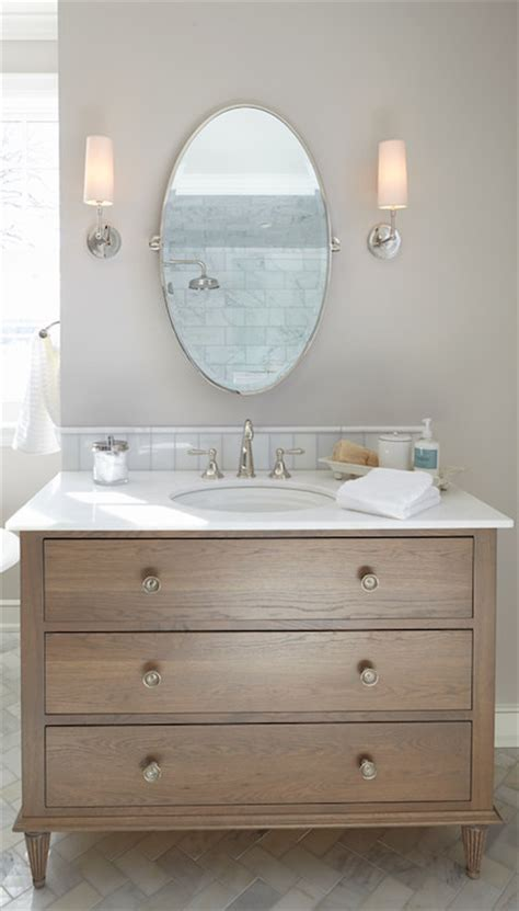 dresser style bathroom vanity dresser bathroom vanity transitional bathroom hendel