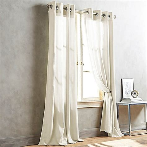 dkny curtains drapes buy dkny cobble hill 95 inch window curtain panel in ivory