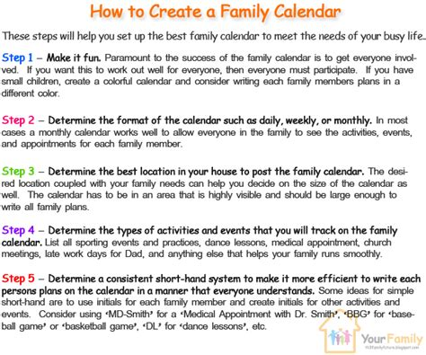 make family calendar create family calendar best way th3bestone