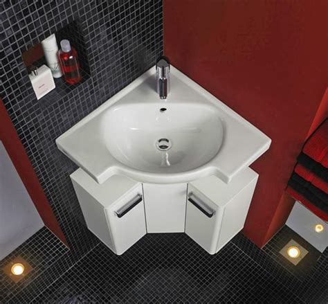 Modern Bathroom Sinks Small Spaces Corner Bathroom Sinks Creating Space Saving Modern Bathroom Design Corner Sink Modern