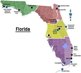 florida regions map with cities mapsof net