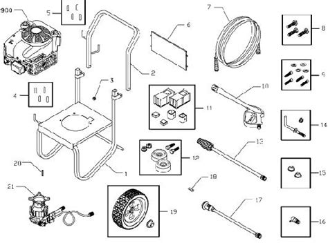 briggs and stratton pressure washer parts diagram pressure washer briggs stratton pressure washer