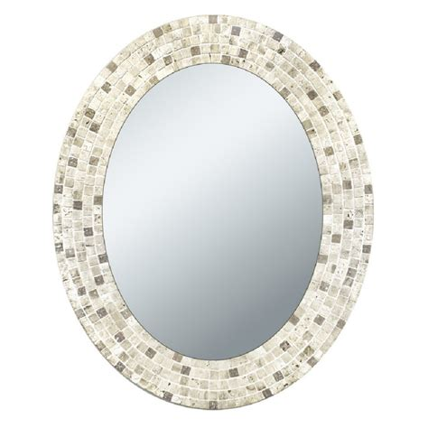 how to frame an oval bathroom mirror 30 ideas of mosaic tile framed bathroom mirrors