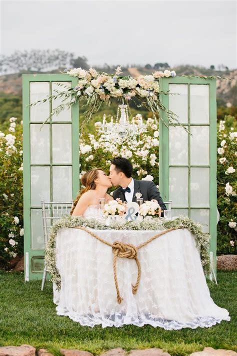 romantic style lace table cloth wedding ideas