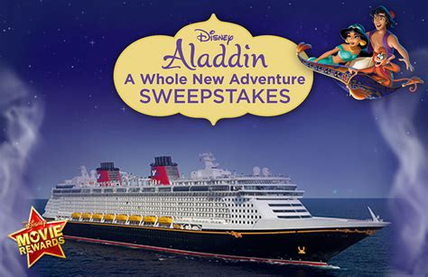 Disney Prizes Sweepstakes - enter disney movie rewards aladdin a whole new adventure sweepstakes featuring a