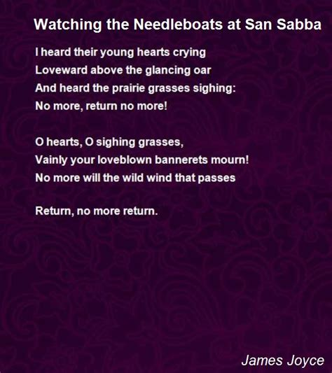 san poems the needleboats at san sabba poem by joyce