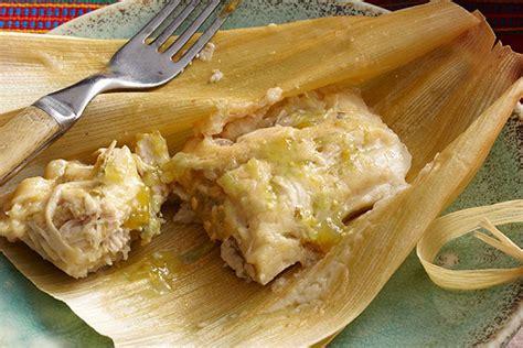 imagenes de tamales verdes tamales verdes de pollo receta comida kraft