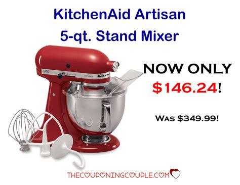 Mixer National Plus kitchenaid artisan 5 quart mixer only 146 24 from 349 99