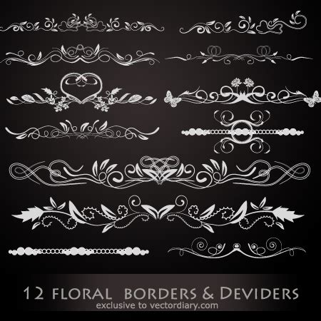 swirl, floral and flower vector files | the design work