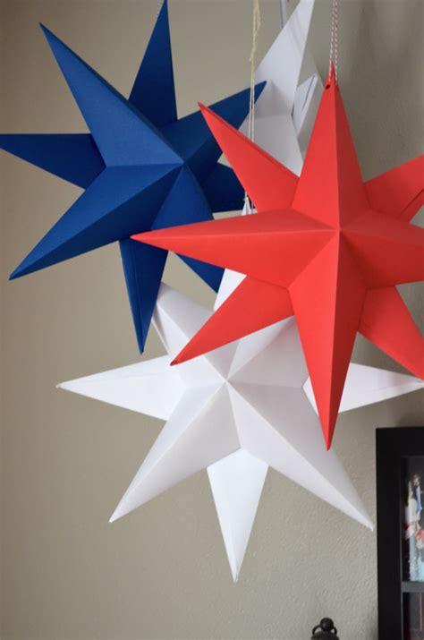hanging paper star large folded origami by thepathlesstraveled
