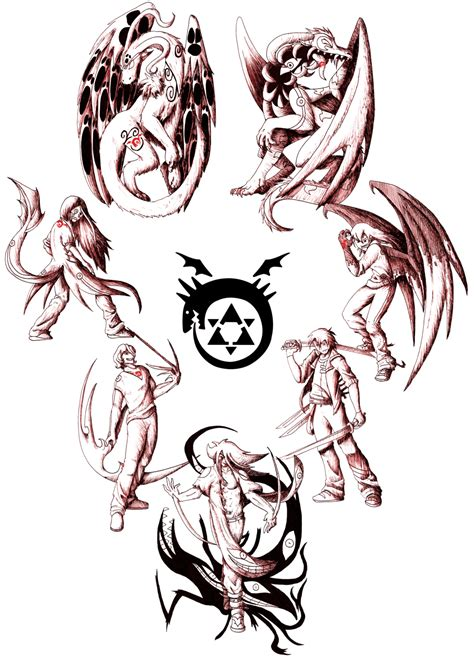seven deadly sins tattoo design the seven deadly sins by flaresiram on deviantart
