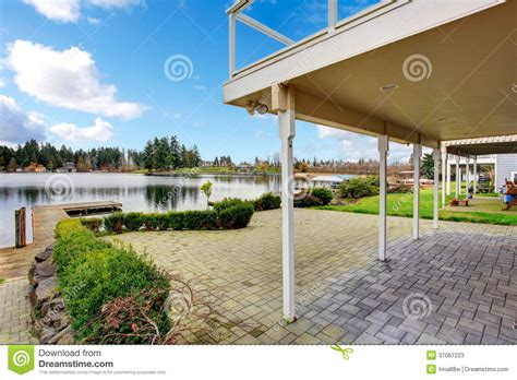 backyard view beautiful backyard view stock photos image 37067223