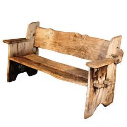 rustic wooden bench rustic scottish garden bench