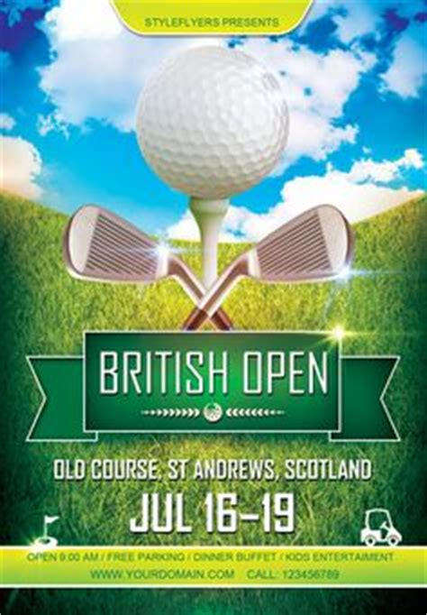 14 Awesome Golf Tournament Flyer Psd Images Kk Pinterest Golf Design Template