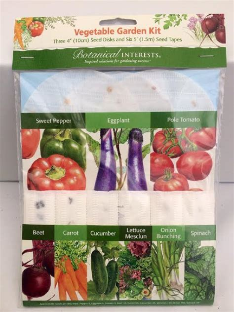 Vegetable Garden Seed Kits Vegetable Garden Kit Three 4 Quot Seed Disks Six 5 Seed