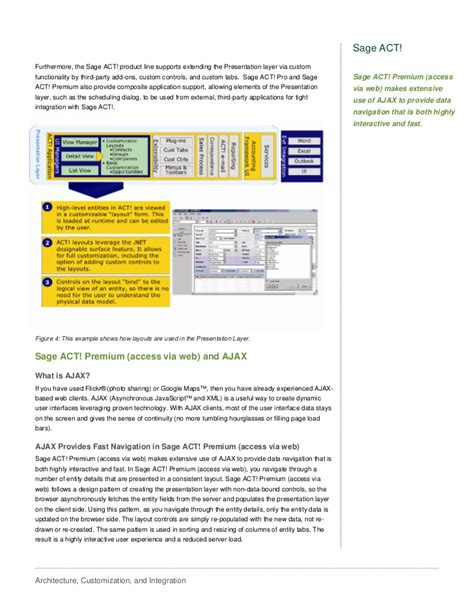 sage act layout design sage act architecture customization and integration