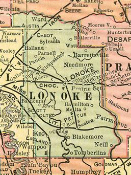 Lonoke County Records Lonoke County Arkansas Genealogy History Maps With Lonoke Brownsville