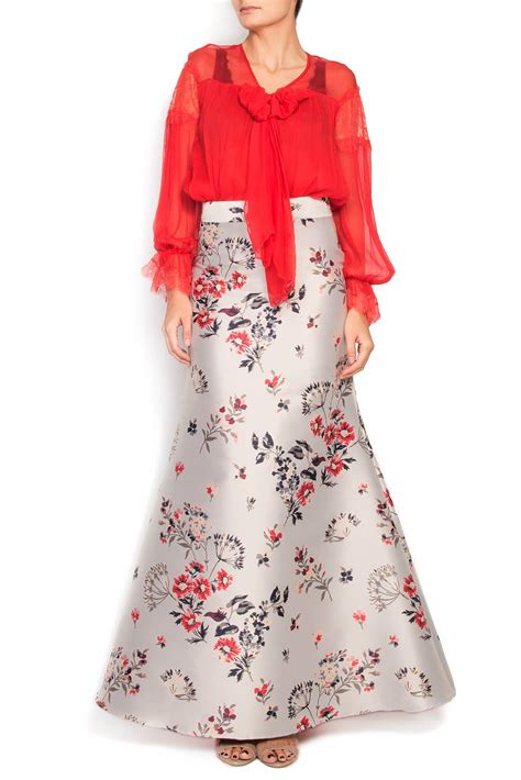floral print jacquard maxi skirt maxi skirts made to measure