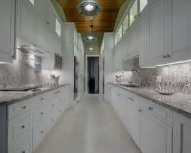 Long Galley Kitchen Designs - long white galley kitchen beautiful homes design