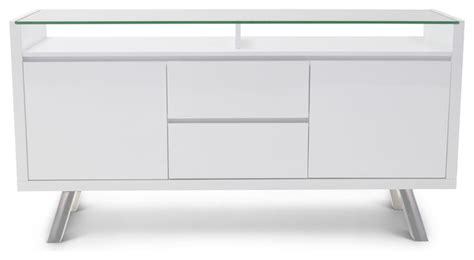 blanco high gloss modern buffet white contemporary