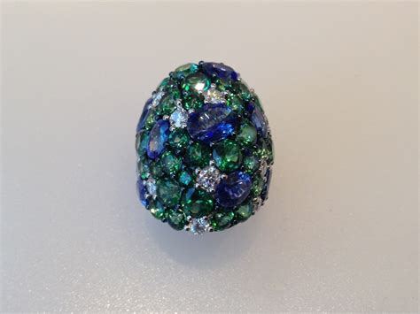 ring with multi colored gemstones new jersey