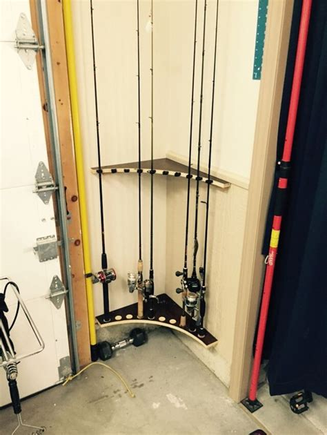 fishing pole rack from left cabinet lumber cabinet