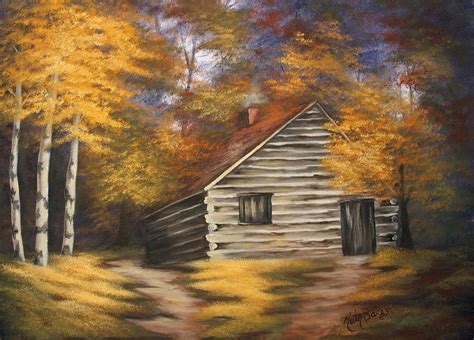 bob ross painting log cabins cabin in the woods cabin woods and paintings