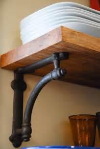 kitchen shelving brackets restoration hardware arc bracket reclaimed pecan