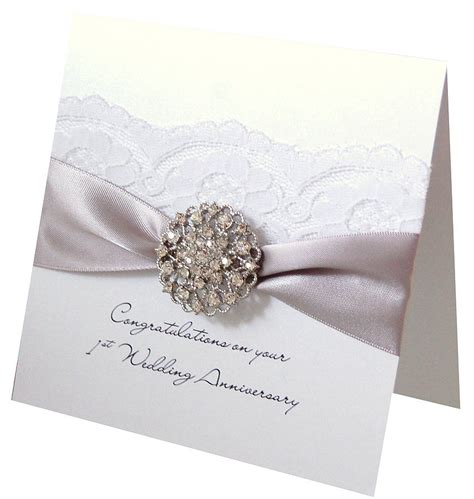silver wedding anniversary card images opulence wedding anniversary card by made with designs ltd notonthehighstreet