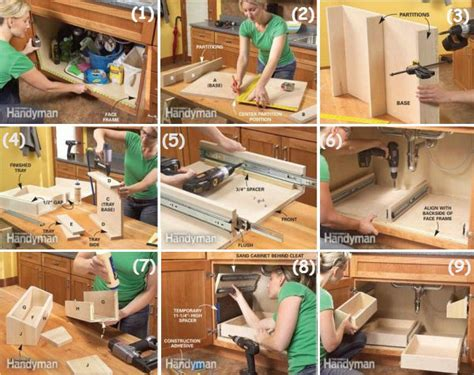 diy under cabinet storage kitchen sink storage trays 3 home design garden