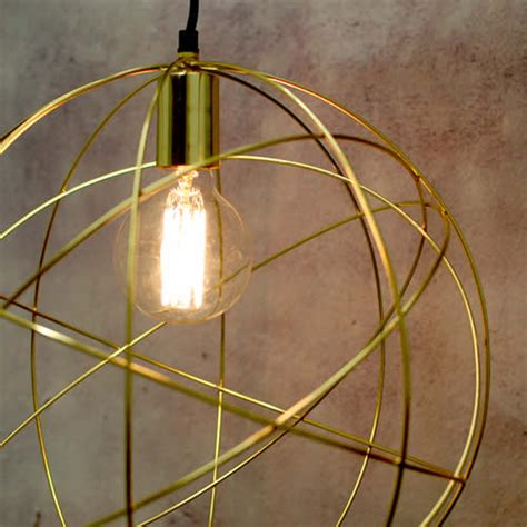 Gold Globe Chandelier Gold Brass Globe Ceiling Pendant Light Orb Chandelier By