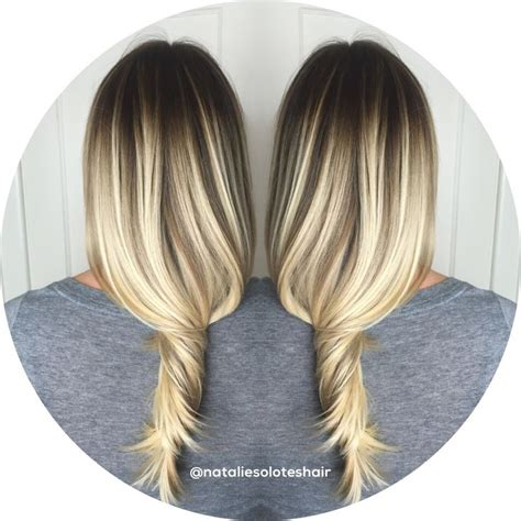 photos of blonde highlights with dark roots 211 best images about my creations on pinterest balayage