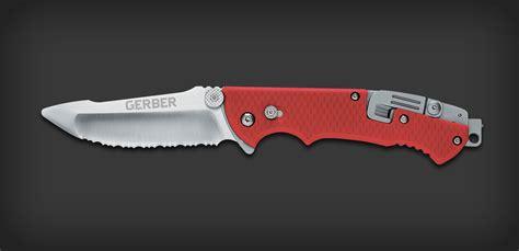 gerber firefighter knife hinderer rescue serrated sheath