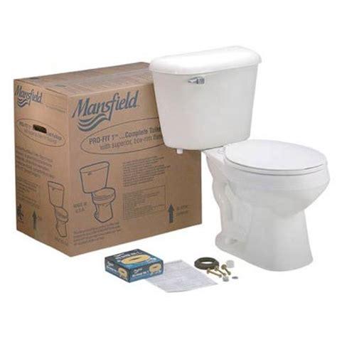 Mansfield Plumbing Fixtures Mansfield Plumbing Profit 1bn Front Toilet Kit Bone